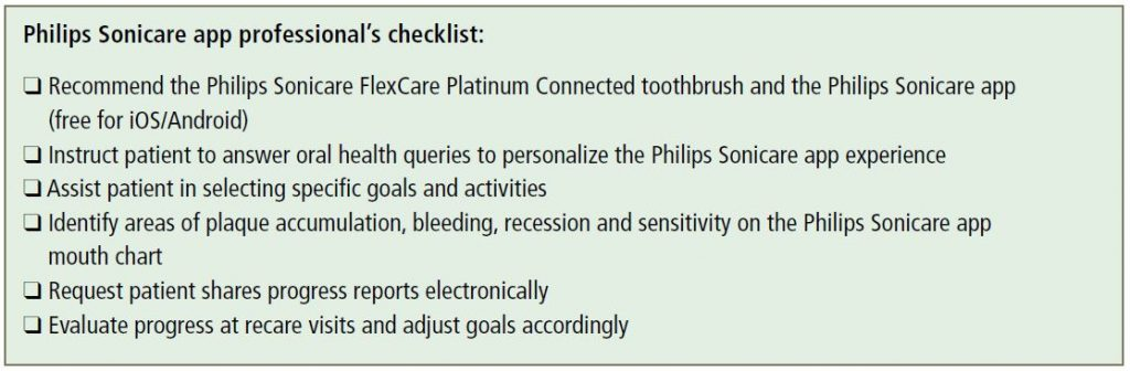 Philips Sonicare app professional's checklist:
