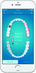 Figure 2. Focus areas input screen – this feature allows patients to engage with their dental professional