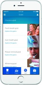 Figure 5. Setting personal oral health goals