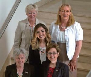ISDH roundtable participants, from top left, clockwise, Sylvia Fresmann, DH, Juliette Reeves, RDH, Janet Kinney, RDH, MS, Birgitta Söder, PhD, RDH, Maha Yakob, PhD, RDH
